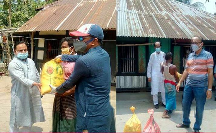 প্রশাসন ও এমপি হাসানাতের উদ্যোগে আগৈলঝাড়ায় খাদ্য সহায়তা প্রদান